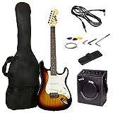 RockJam Kit completo per chitarra elettrica con amplificatore per chitarra da 20 Watt, lezioni, tracolla,...