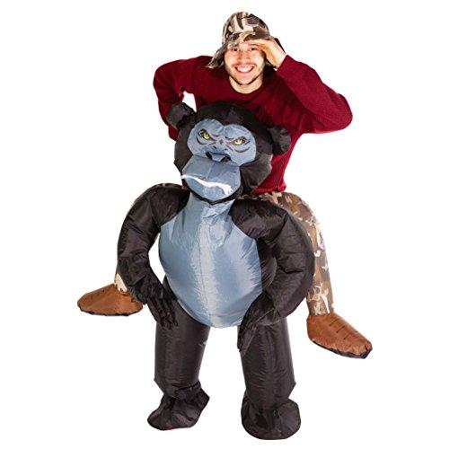 Bodysocks® Disfraz Hinchable de Gorila Adulto