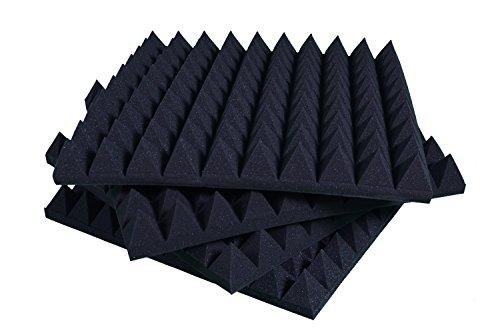 Pannelli Fonoassorbenti Piramidali Correzione Acustica 50x50x6 D30 Grigio Antracite Pacco da 20