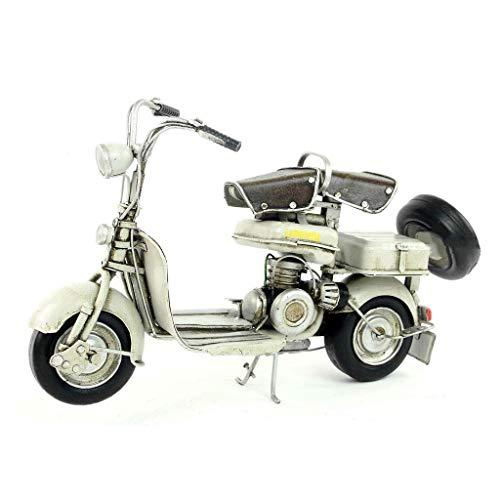 YFJDW Auto-Modellbausätze, handgefertigt, Schmiedeeisen, antikes altes Modell 1954 italienisches Lambretta-Motorroller-Modell, dekoratives Geschenk (Farbe: grau)