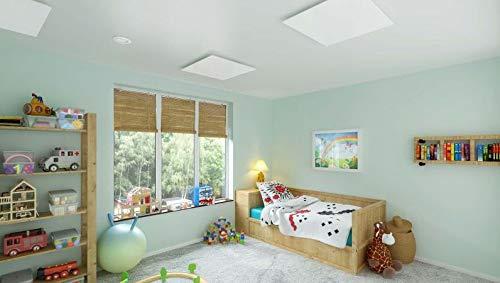 insidehome | Infrarotheizung Glasheizung ELEGANCE Classic H | Glas rahmenlos | ergänzbar mit bis zu 3 Handtuchhaltern | Farbe: weiss | 450 Watt – 60 x 70 x 1,8 cm Bild 6*