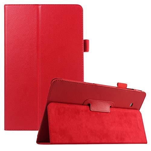 Galaxy Tab E 8.0 Case 2016, APOLL Folio Stand Ultra Slim Lightweight Pencil Holder Minimalist Series Case for Samsung Galaxy Tab E 8.0-Inch SM-T375/SM-T377 & Tab E 32GB SM-T378 Tablet, Red