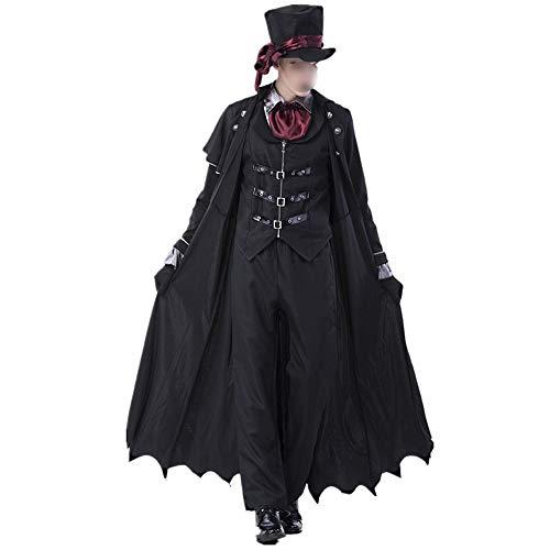 HUOFEIKE Coppia di Uomini e Donne Che recitano Il Ruolo di Un Vampiro, Costume di Halloween in Stile Scuro Insieme a Costumi Festivi Adatti per esibizione sul palco di Una Festa a Tema,ZX,XL