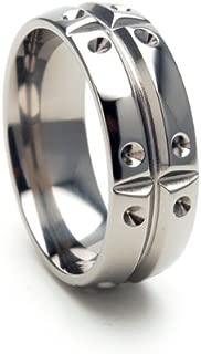 8mm Titanium Ring Wedding Band, Matrix Ring Titanium Band Ring Sz 4-17