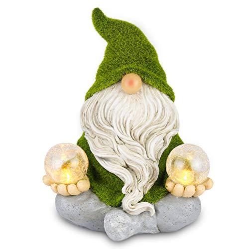 Solar Light Garden Gnome Zen Meditating - Waterproof Outdoor Decorations - Solar Powered Lights - Auto On/Off for Patio Deck Yard Garden