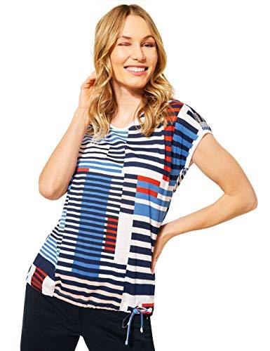Cecil Damen 316035 T-Shirt, deep Blue, XXL
