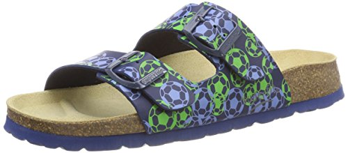 Superfit Jungen Fussbettpantoffel_800111 Pantoffeln, Blau (Ocean Multi 83), 26 EU