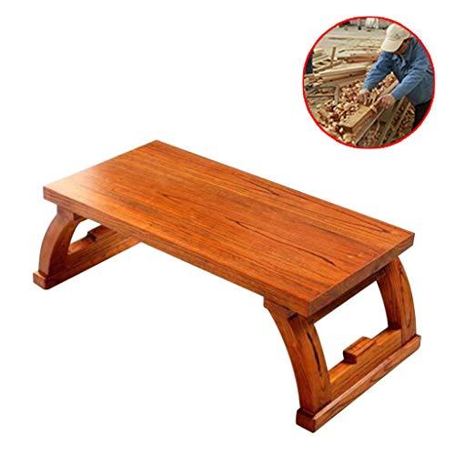 Zhuo/Tatami Tuinmeubelen en accessoires, massief hout, salontafel, professionele Japanse theeceremonie, lage tafel, milieuvriendelijk iep-materiaal