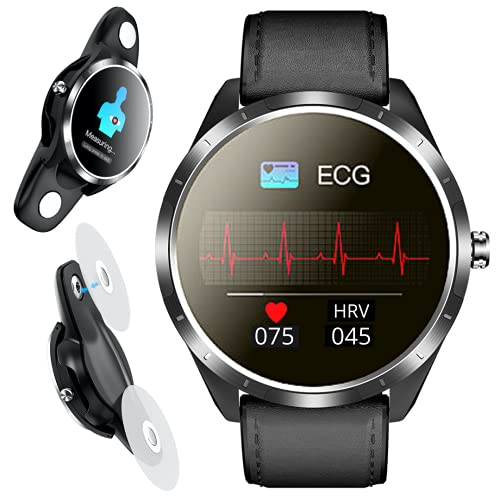 Smart Watch Heart Rate Blood Pressure Monitor, SPOREX EG4 Smartwatch for Android Phones and iPhone Compatible; Fitness Tracker, Blood Oxygen Meter; HD Touch Screen, Waterproof; Sport