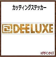 【ロゴ・文字】DEELUXE ディーラックス カッティングステッカー (ゴールド, 横20x縦3.5cm 2枚組)