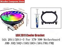 4ヒートパイプCPUクーラーラジエーター120ミリメートル90ミリメートルRGBランプ3PIN 4PINインテルLGA 775 1156 1155 115X 1366 2011 X79 X99 AMD AM4 CPU付き (Blade Color : Silver, Blade Quantity : 4PIN)