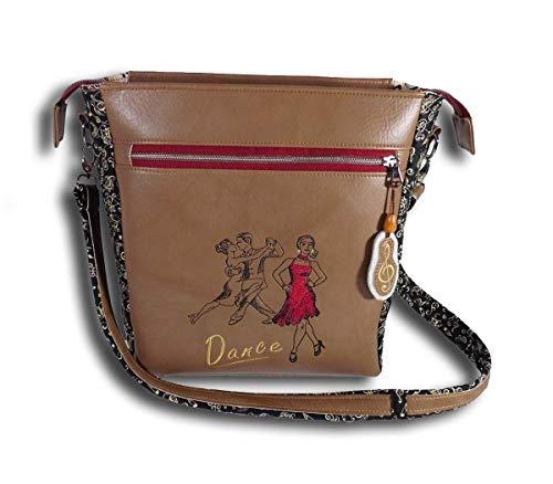 Tanzschuhtasche Handtasche Damen Umhängetasche Schultertasche Crossbag Schuhtasche