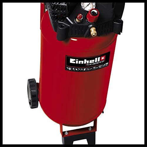 Einhell Kompressor TH-AC 240/50/10 OF (1500 W, 240 l/min Ansaugl., 50 l Kessel, 10 bar max. Betriebsdruck, öl- und wartungsarm, Druckminderer, Manometer) - 8