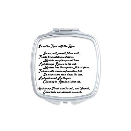 DIYthinker Poésie Citation Life Like Summer Flower Place Makeup Compact Miroir de Poche Portable Mignon Petit Cadeau Miroirs Main Multicolor
