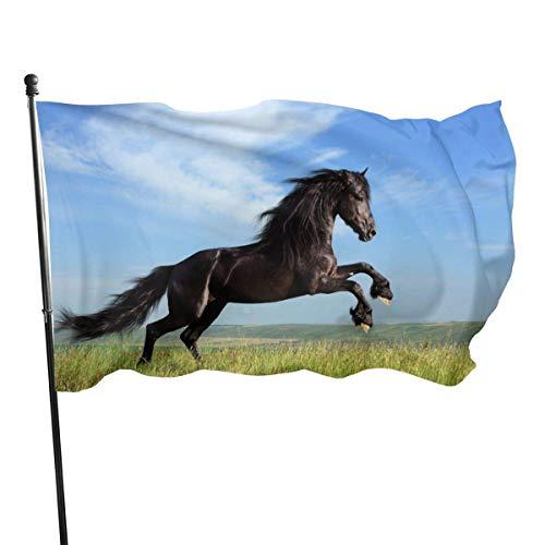 N/A Garten Banner,Drinnen Dekoration Flagge,Hanging Flag Dekor,Wetterfest Fahne,Laufendes Pferd Premium Quality Durable Flag Decor Für Häuser Und Gärten 150X90Cm