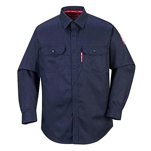 Portwest Portwest fr89narl Bizflame Shirt, Regular, Größe: Large, marineblau