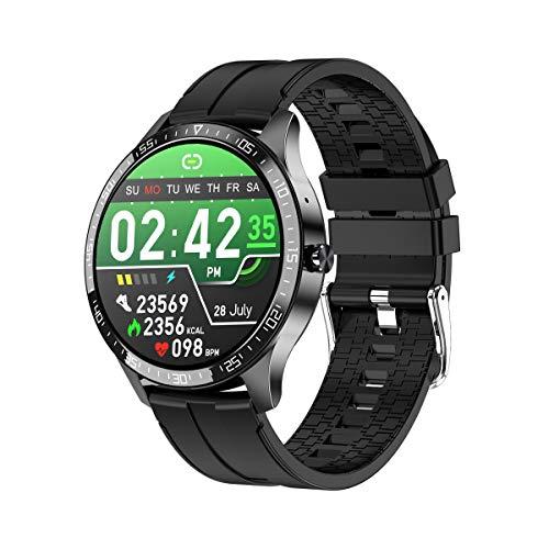 Phipuds Smartwatch, reloj de fitness para mujer, impermeable, IP67, rastreador de actividad Bluetooth, pulsómetro, presión sanguínea, podómetro, calorías para iOS y Android