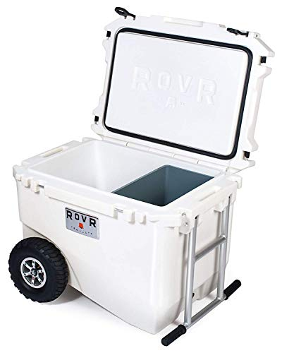 RovR Wheeled Camping Rolling Cooler with Wheels (60 qt.) (Powder)