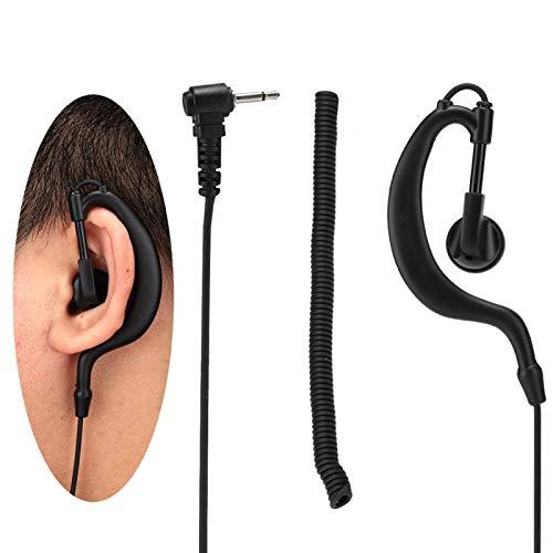 DAUERHAFT Auriculares con Gancho para la Oreja Fuertes Auriculares con Cable Cómodo Fácil de Ajustar, para minoristas, para restaurantes, para usuarios comerciales