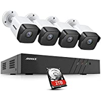 ANNKE 4-Cam. 8-Ch. PoE Home Security Camera System with 2TB HDD