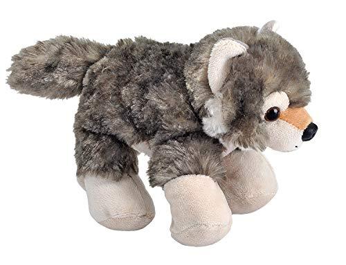 Wild Republic 16244, Wolf Hug'ems Plush, Cuddly Soft Toy, Kids Gifts, 18 cm