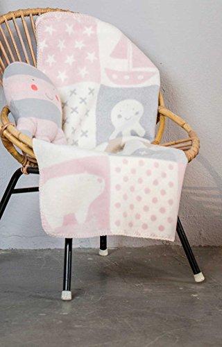 Fussenegger Baby-und Kinderdecke Mila Patch 75x100cm mit Ihrem Wunschnamen bestickt, personalisiert, ideales Geschenk zur Geburt, Taufe, Ostern und Weihnachten