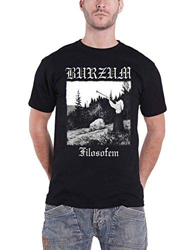 Burzum T Shirt Filosofem 2018 Album Lyrics Band Logo Nue offiziell Herren