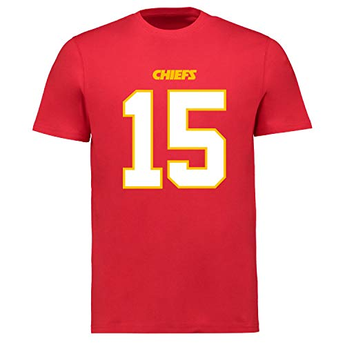 Fanatics NFL Kansas City Chiefs Patrick Mahomes #15 Name Number Shirt Jersey Trikot (XL)