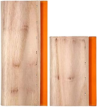 Opaltool - Raspador de tinta de madera para serigrafía, 2 tamaños, para serigrafía, 9,4 y 5,9 pulgadas