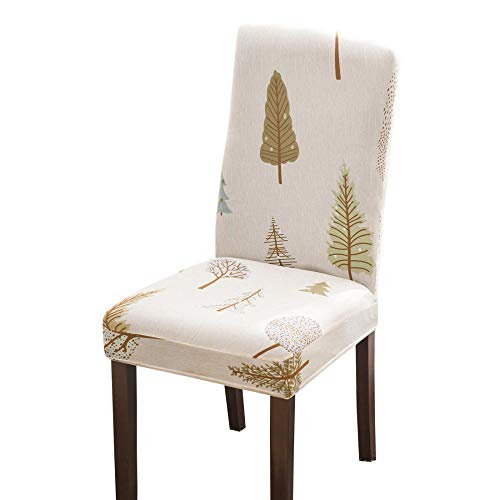 Suuki Chair Covers for Dining Room Chairs,Covers for Party dining chairs,Removable Seat Chair Covers,Spandex Washable Chair Slipcovers for Home,Hotel,Wedding Banquet-B_Pack_of_4
