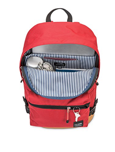 Pacsafe Slingsafe LX400 Anti-Theft Backpack with Detachable Pocket, Chili Red