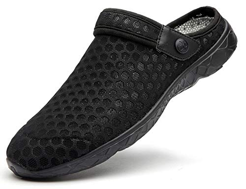 Unisex Clogs Hausschuhe Muffin Unten Alltägliche Drag Pantolette Sommer Beach Schuhe Sandalen für Damen Herren, E Schwarz, 36 EU