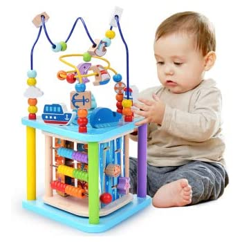 baobë ビーズコースター ルーピング おもちゃ アクティビティキューブ 子ども 知育玩具 木製 マルチプレイセット プレイセンターシリーズ 知育ボックス キッズおもちゃ 赤ちゃんの木の玩具 非常に素晴らしいギフト …