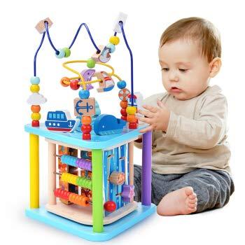 くるくるスロープ 木製スロープ 転がし遊び 木のおもちゃ 車玩具 滑空車 4台セット ミニコースター 4つ軌道...