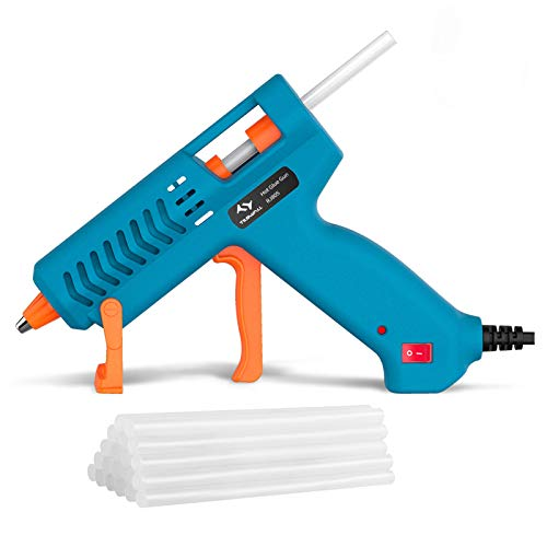 【50W】Hot Glue Gun, Tilswall Mini Hot Melt Glue Gun with 12pcs Glue Sticks, High Temperature Anti-drip Melting Glue Gun Kit for Quick Home Repair, Arts, Crafts, DIY & Sealing