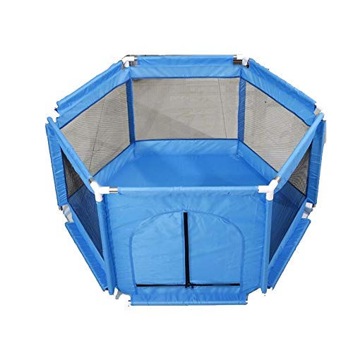 Barrières de lit LHA Baby Child Safety Clôture de Jeu intérieure Clôture de Protection pour bébé (Couleur : Bleu)