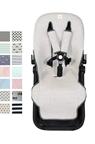 Fundas BCN ® - F125 - Colchoneta para silla de paseo Bugaboo Cameleon ® 3 – Diversos estampados (Kodak Stripes)