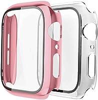 Fengyiyuda Hülle Kompatibel mit Apple Watch 38/42/40/44mm mit Anti-Kratzen TPU Panzerglas Displayschutz...