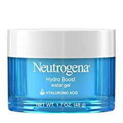 1.7-fluid ounce jar of Neutrogena Hydro Boost hydrating water-gel face moisturizer with hyaluronic acid to hydrate dry skin Gel moisturizer formula provides hydration to skin, leaving it looking smooth and supple day after day Hyaluronic acid, a hydr...