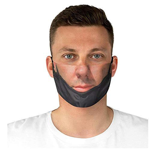 Funny Face_Mask Washable for Women Men, 3D Printed Breathable Cloth_Masks Reusable, as Novelty_Gifts, 0302