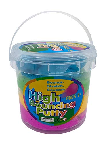 Barry Owens Co. Inc. Rainbow High Bouncing Putty Bucket, Multicolored