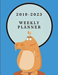 2019-2023 Weekly Planner: Hippo Themed Five Year Diary