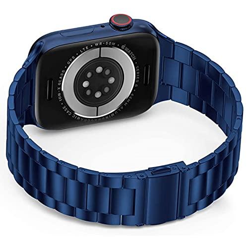 Banda para apple watch se 4 5 6 banda 44 mm 40 mm Correa ultrafina de acero inoxidable para bandas iwatch 3 42 mm 38 mm Pulsera adaptadora mejorada