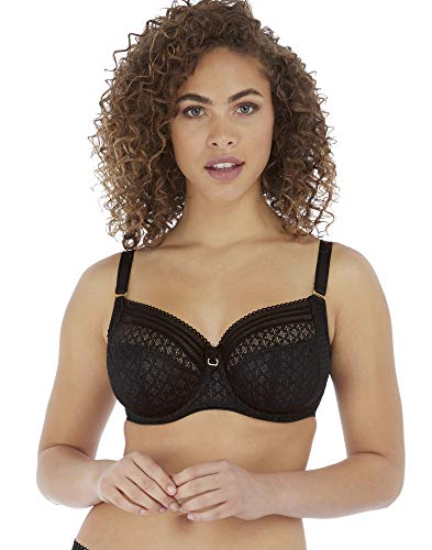 Freya Women's Viva Underwire Side Support Bra, LACE Noir, 28HH
