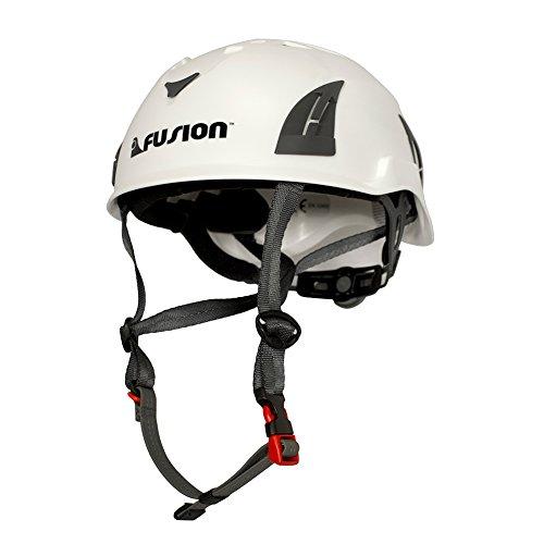 Fusion Climb Meka Climbing Bungee Zipline - Casco de Seguridad para Escalada, Color Blanco