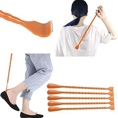 N / A Haupt Back Scratcher Schuh Fuß Kunststoff, Werkzeug Massage für Senioren Zurück Out Familie entlasten Juckreiz Back 2 Teile