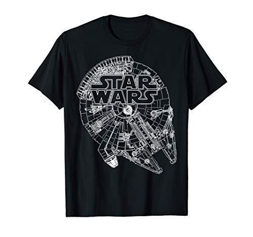 Star Wars Logo On Millenium Falcon Maglietta