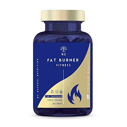 Quemagrasas Natural Termogénico Adelgazante Fat Burner Supresor de Apetito Ingredientes 100{39377e59c17411680b07d0cfbc986957e2aeb5064f78bd612ae6c9a01bd7c6e4} Naturales 120 Cápsulas Vegetal Alta Concentración Certificado VEGANO Fabricado en CE. N2 Natural Nutrition