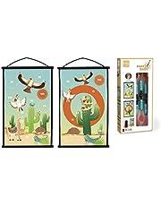 SCRATCH 276182058 Start to Dart lekset, dartspel för barn, inklusive måltavla och kastpilar, motiv Mexico