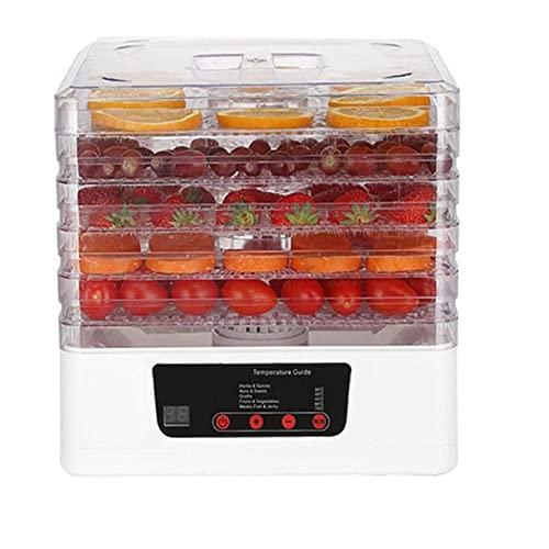 ZLQBHJ 350W Food Dehydrato, Secador de alimentos de 5 niveles con temperatura ajustable y ajustes de temporizador, ideal for frutas, bocadillos saludables, verduras, carnes y chile (Color : B)
